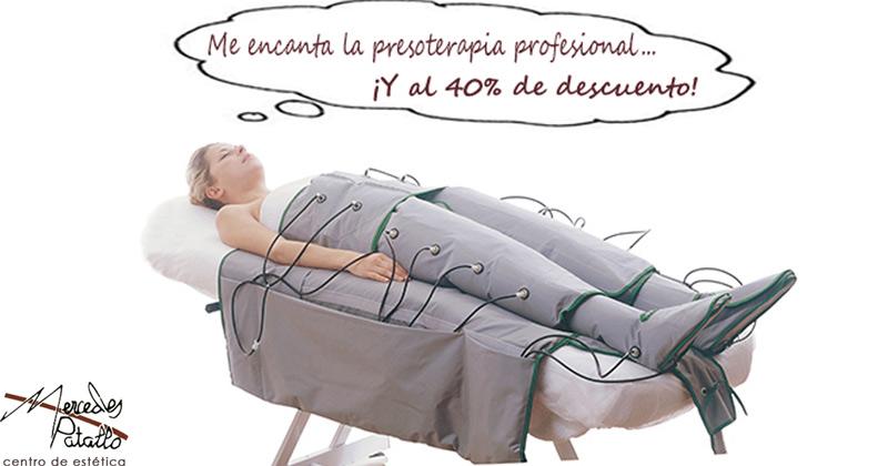 Presoterapia en el centro de estética Mercedes Patallo de Gijón
