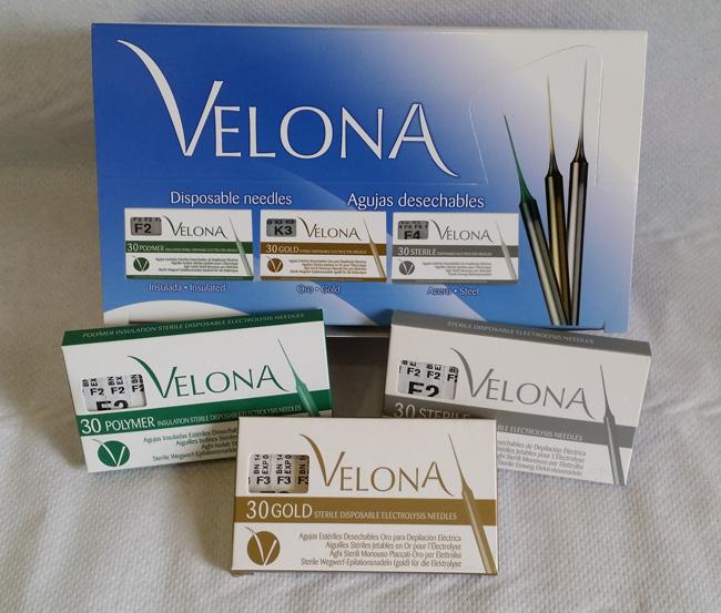 Agujas estériles Velona para depilación eléctrica en centro de estética mercedes patallo gijón asturias